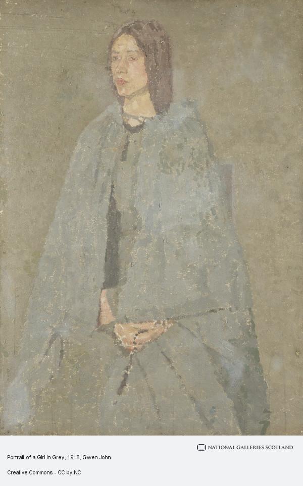 Gwen John, Portrait of a Girl in Grey