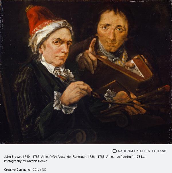 Alexander Runciman, John Brown, 1749 - 1787. Artist (With Alexander Runciman, 1736 - 1785. Artist - self portrait)