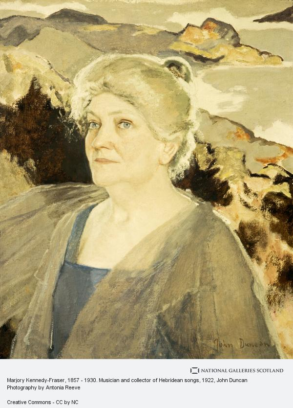 John Duncan, Marjory Kennedy Fraser, 1857 - 1930. Musician and collector of Hebridean songs (about 1922)
