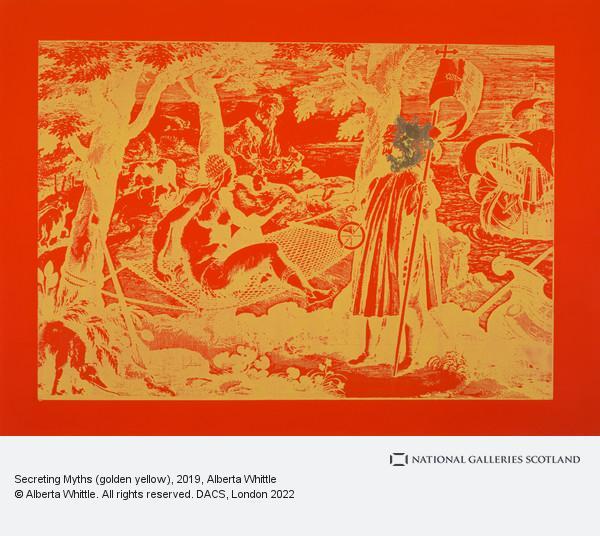 Alberta Whittle, Secreting Myths (golden yellow)