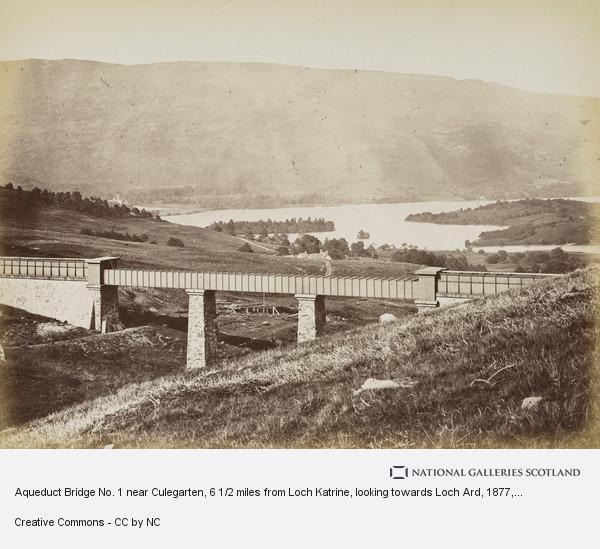 Thomas Annan, Aqueduct Bridge No. 1 near Culegarten, 6 1/2 miles from Loch Katrine, looking towards Loch Ard