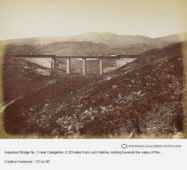 Thomas Annan, Aqueduct Bridge No. 2 near Culegarten, 6 2/3 miles from Loch Katrine, looking towards the valley of the Duchray Water