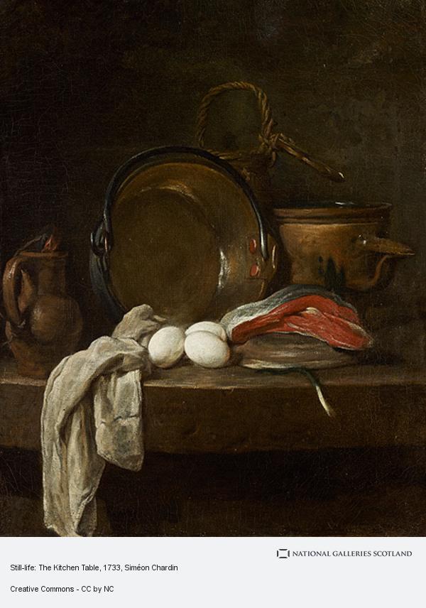 Jean-Baptiste Siméon Chardin, Still-life: The Kitchen Table