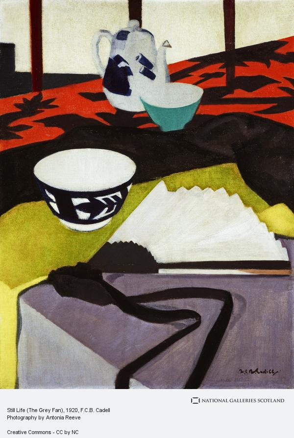 Francis Campbell Boileau Cadell, Still Life (The Grey Fan)