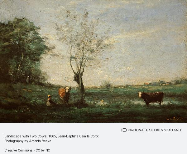 Jean-Baptiste Camille Corot, Landscape with Two Cows