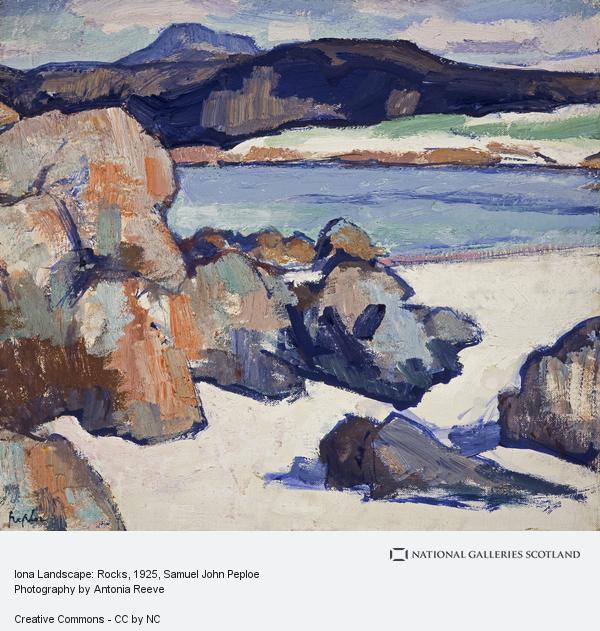 Samuel John Peploe, Iona Landscape: Rocks (About 1925 - 1927)
