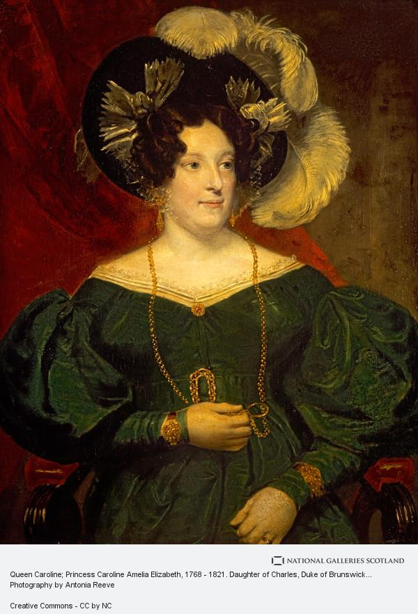 Samuel Lane, Queen Caroline; Princess Caroline Amelia Elizabeth, 1768 - 1821. Daughter of Charles, Duke of Brunswick-Wolfenbüttel; Queen of George IV
