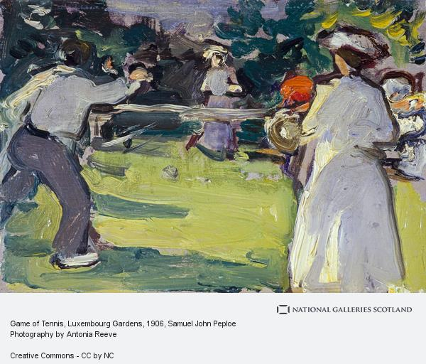 Samuel John Peploe, Game of Tennis, Luxembourg Gardens (About 1906)
