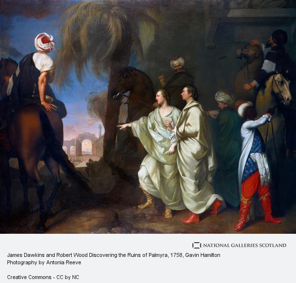 Gavin Hamilton, James Dawkins and Robert Wood Discovering the Ruins of Palmyra