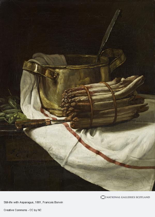 Francois Bonvin, Still-life with Asparagus