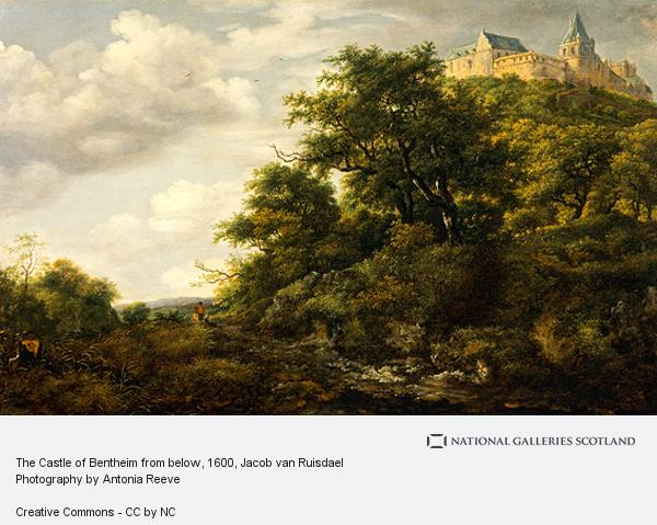 Jacob van Ruisdael, The Castle of Bentheim from below