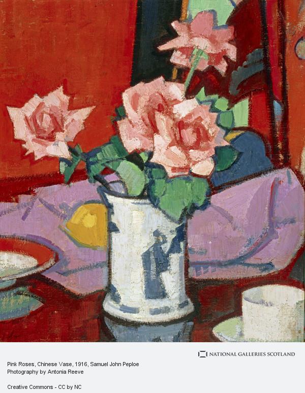 Samuel John Peploe, Pink Roses, Chinese Vase (About 1916 - 1920)
