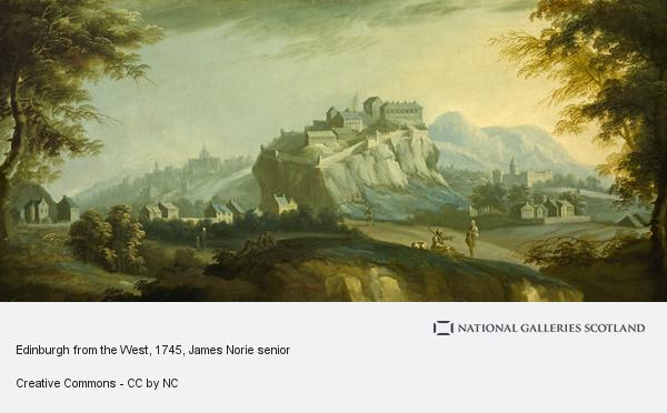James Norie senior, Edinburgh from the West (About 1745)