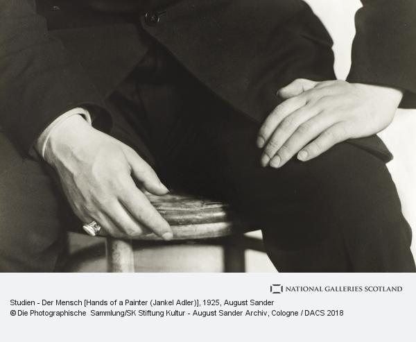 August Sander, Studien - Der Mensch [Hands of a Painter (Jankel Adler)]