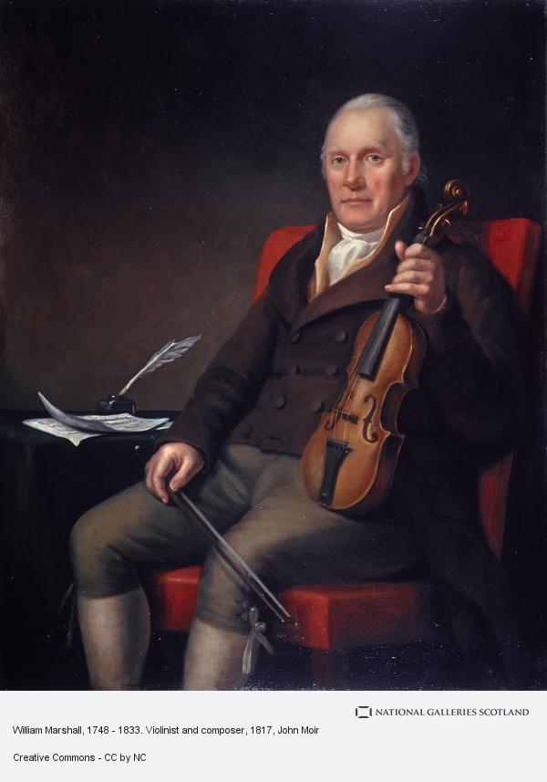 John Moir, William Marshall, 1748 - 1833. Violinist and composer (1817)