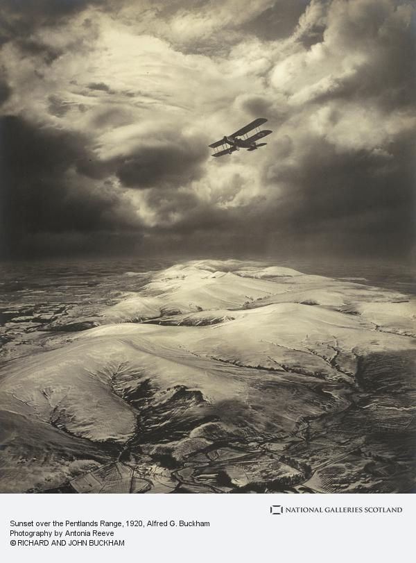 Alfred G. Buckham, Sunset over the Pentlands Range (About 1920)