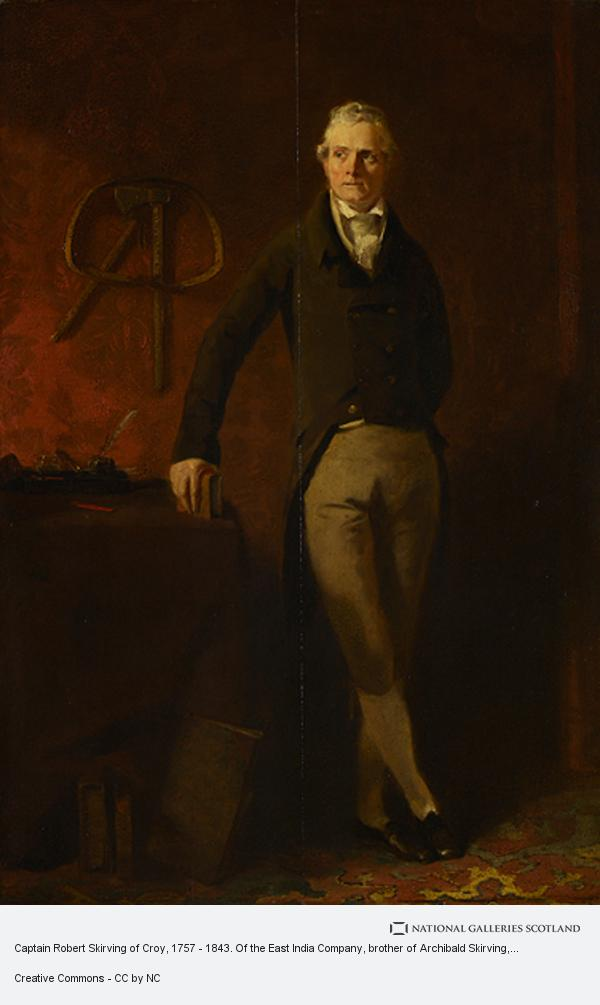 Andrew Geddes, Captain Robert Skirving of Croy, 1757 - 1843. Of the East India Company, brother of Archibald Skirving