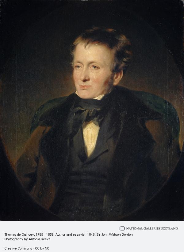 Sir John Watson Gordon, Thomas de Quincey, 1785 - 1859. Author and essayist