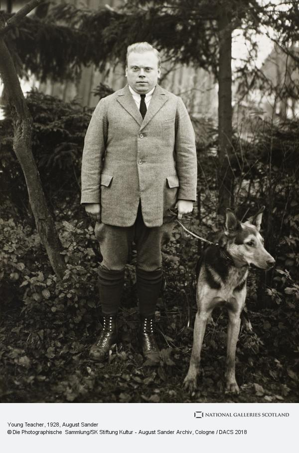 August Sander, Young Teacher, about 1928 (about 1928)
