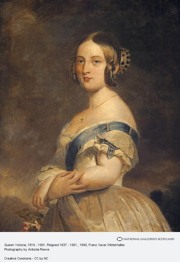 Franz Xaver Winterhalter, Queen Victoria, 1819 - 1901. Reigned 1837 - 1901.