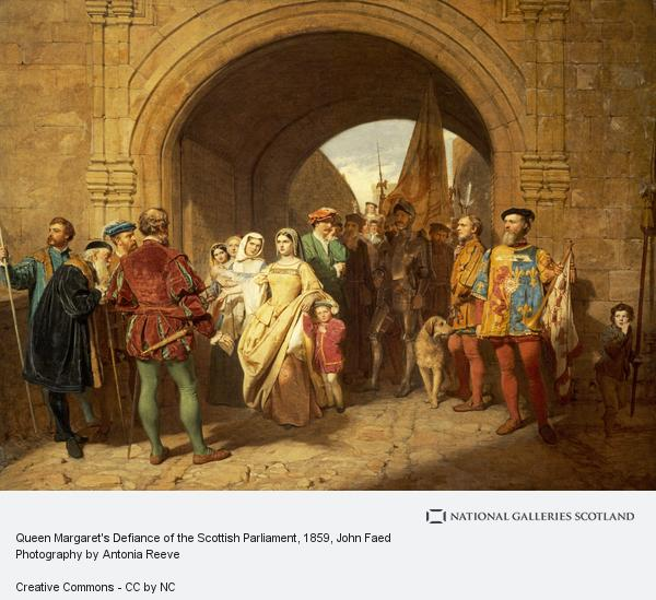 John Faed, Queen Margaret's Defiance of the Scottish Parliament (1859)