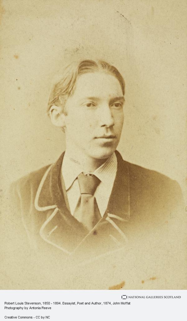 John Moffat, Robert Louis Stevenson, 1850 - 1894. Essayist, Poet and Author. (About 1874)