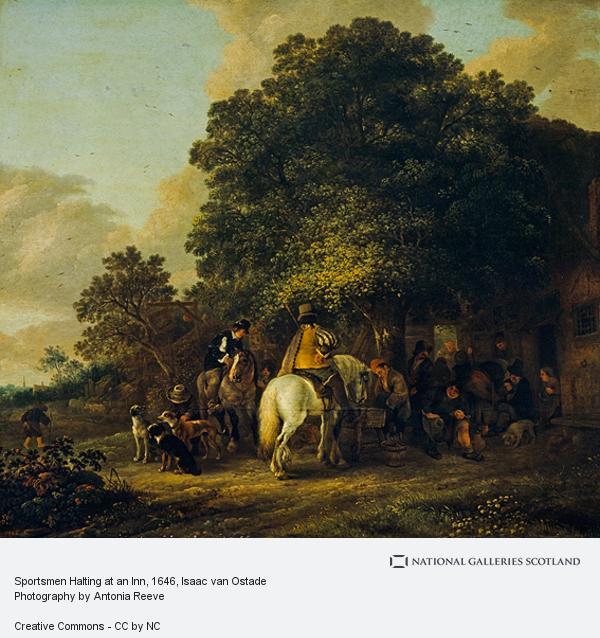 Isaac van Ostade, Sportsmen Halting at an Inn
