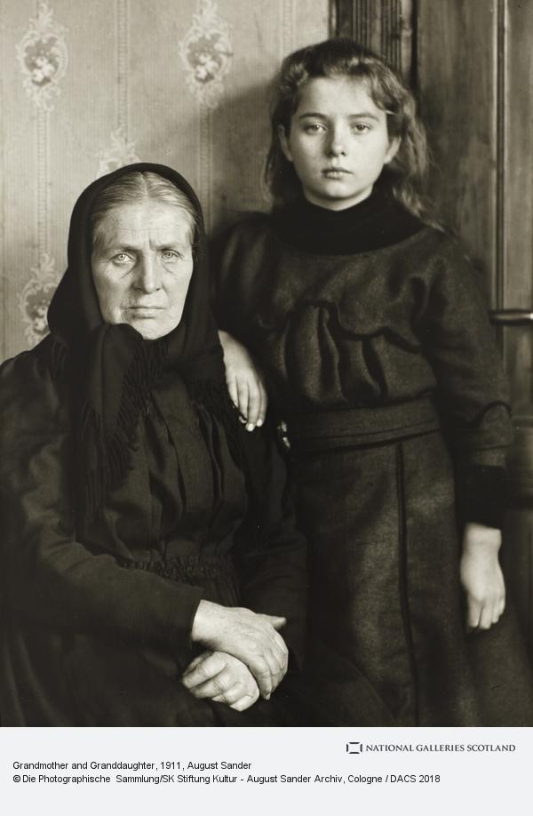 August Sander, Grandmother and Granddaughter, 1911-14 (1911 - 1914)