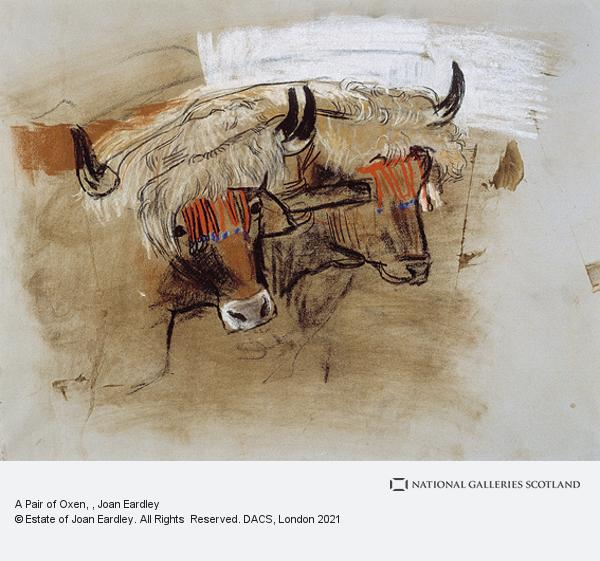 Joan Eardley, A Pair of Oxen