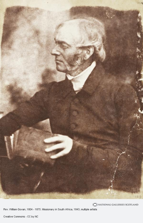 David Octavius Hill, Rev. William Govan, 1804 - 1875. Missionary in South Africa (About 1843)