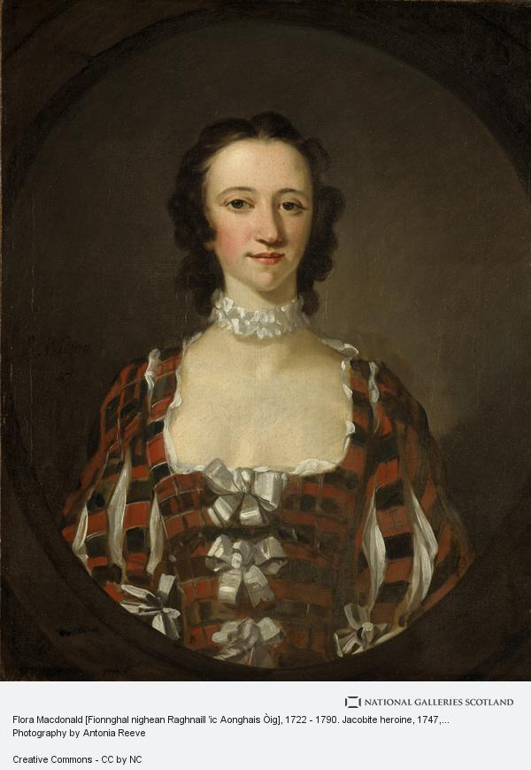 Richard Wilson, Flora Macdonald [Fionnghal nighean Raghnaill 'ic Aonghais Òig], 1722 - 1790. Jacobite heroine