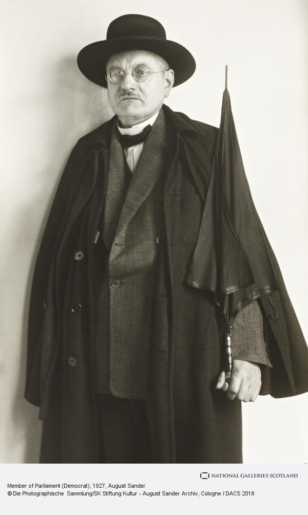 August Sander, Member of Parliament - Democrat, 1927 (1927)
