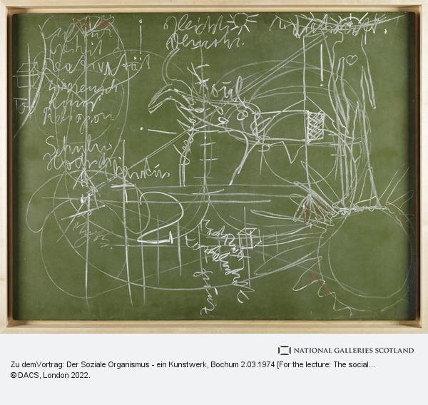 Joseph Beuys, Zu demVortrag: Der Soziale Organismus - ein Kunstwerk, Bochum 2.03.1974 [For the lecture: The social organism - a work of art, Bochum, 2nd March...