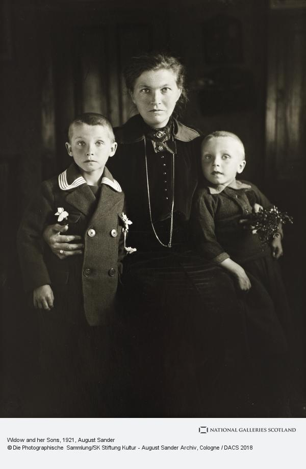 August Sander, Widow and her Sons, about 1921 (about 1921)