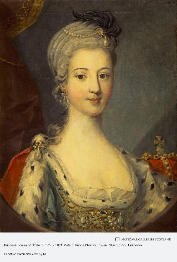 Unknown, Princess Louisa of Stolberg, 1753 - 1824. Wife of Prince Charles Edward Stuart (About 1772)