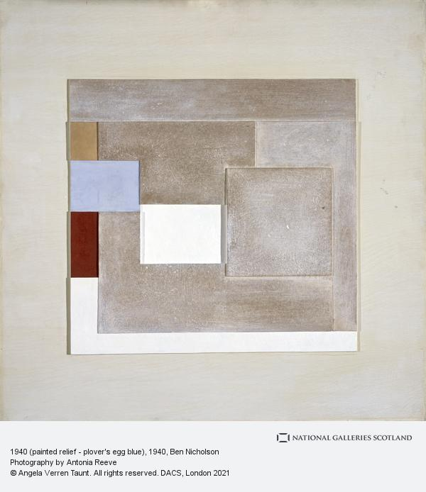 Ben Nicholson, 1940 (painted relief - plover's egg blue)