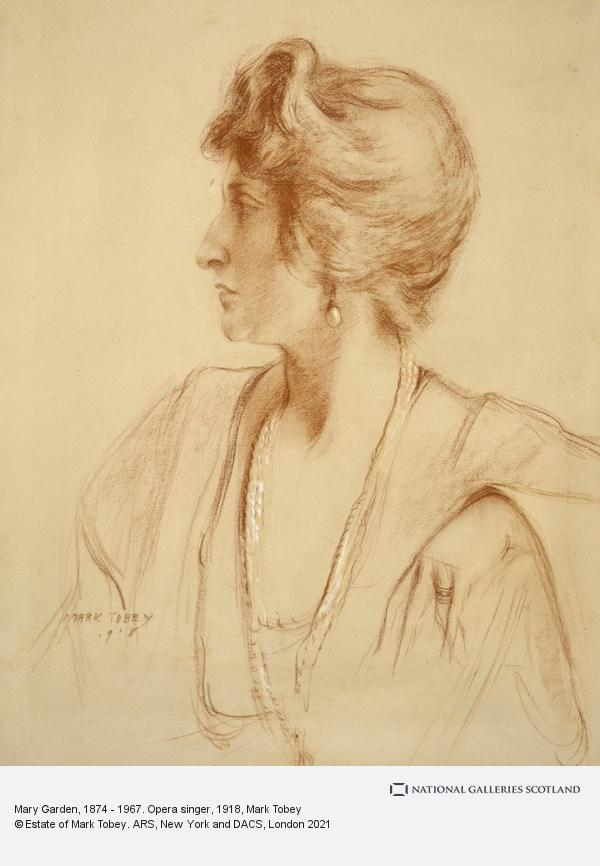Mark Tobey, Mary Garden, 1874 - 1967. Opera singer