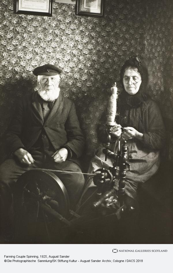 August Sander, Farming Couple Spinning, 1925-30