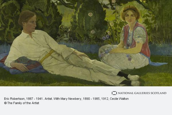 Cecile Walton, Eric Robertson, 1887 - 1941. Artist. With Mary Newbery, 1890 - 1985