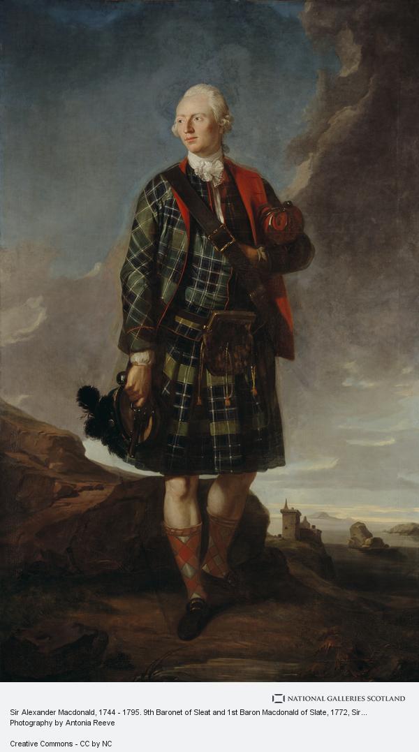 Sir George Chalmers, Sir Alexander Macdonald, 1744 - 1795. 9th Baronet of Sleat and 1st Baron Macdonald of Slate