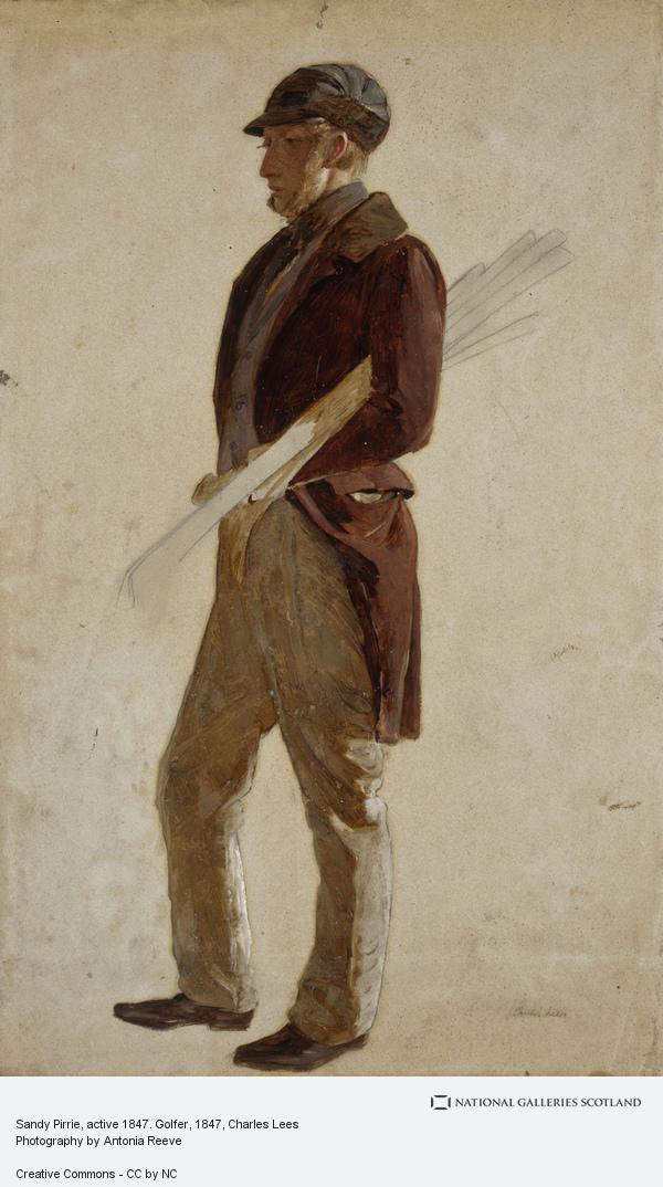 Charles Lees, Sandy Pirrie, active 1847. Golfer