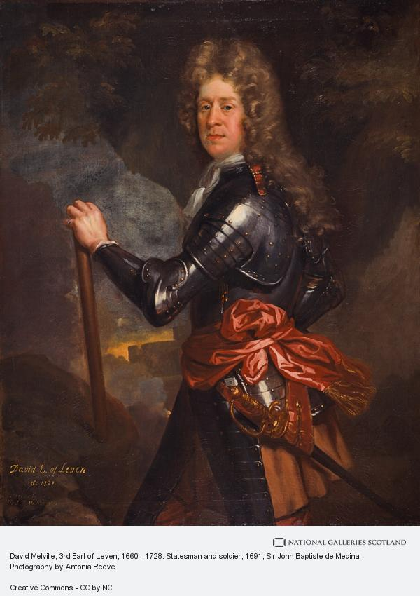 Sir John Baptiste de Medina, David Melville, 3rd Earl of Leven, 1660 - 1728. Statesman and soldier