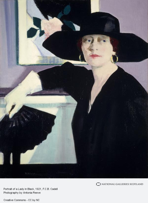Francis Campbell Boileau Cadell, Portrait of a Lady in Black (About 1921)