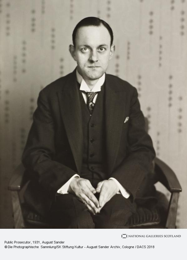 August Sander, Public Prosecutor, about 1931 (about 1931)