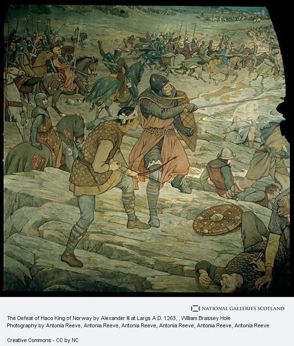 William Brassey Hole, The Defeat of Hako King of Norway by Alexander III at Largs A.D. 1263