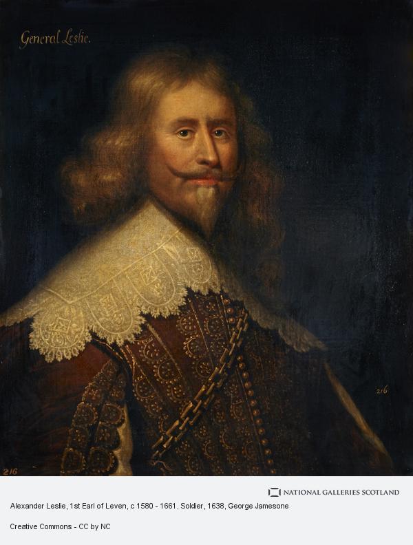 George Jamesone, Alexander Leslie, 1st Earl of Leven, c 1580 - 1661. Soldier (After 1638)