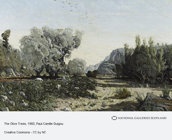 Paul-Camille Guigou, The Olive Trees (1860)