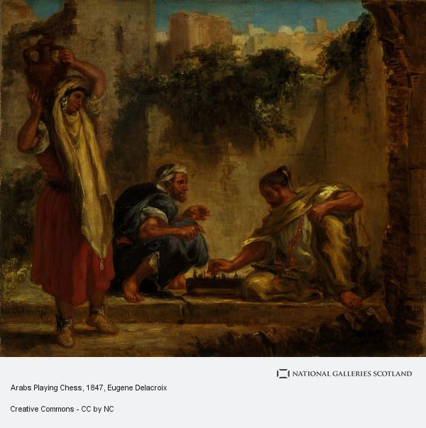 Eugene Delacroix, Arabs Playing Chess (1847 - 1849)