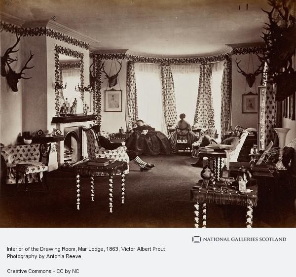 Victor Albert Prout, Interior of the Drawing Room, Mar Lodge (August or September 1863)