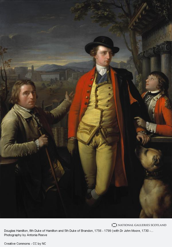Gavin Hamilton, Douglas Hamilton, 8th Duke of Hamilton and 5th Duke of Brandon, 1756 - 1799 (with Dr John Moore, 1730 - 1802, and Sir John Moore, 1761 - 1809, as...